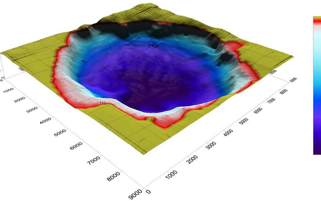 I fondali del lago in 3D