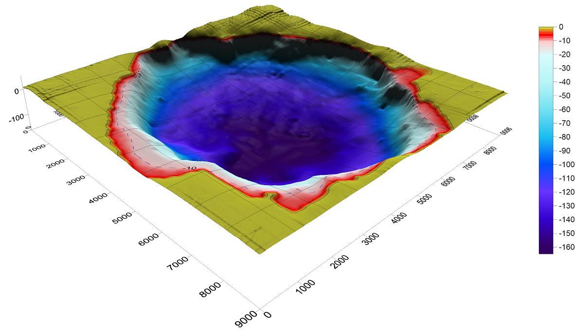 Ricostruzione in 3D dei fondali del Lago di Bracciano