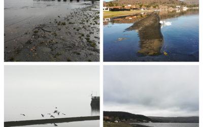 Il lago cresce e i cordoli di sabbia cominciano a scomparire
